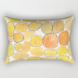 Cheerful orange Gathering Rectangular Pillow