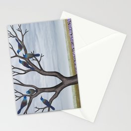 grackles in a tree in spring Stationery Cards