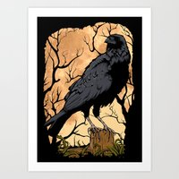 crow Art Prints featuring Crow by Murat Sünger