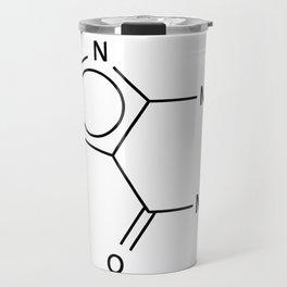 Molecular Structure of Caffeine Travel Mug
