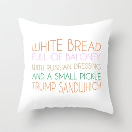 Trump Sandwhich Throw Pillow