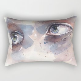 Eye study, watercolor illustration (splatters) Rectangular Pillow