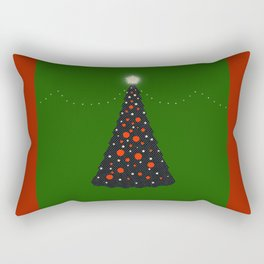 Christmas Tree with Glowing Star Rectangular Pillow