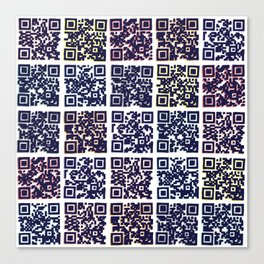 QR Codes to Playlists Canvas Print