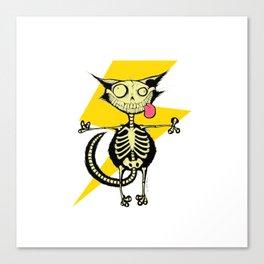 Energy Wire Cat furniture Design by diegoramonart Canvas Print