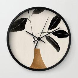 minimal plant 6 Wall Clock