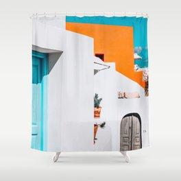 Apartment 539 | Santorini, Greece Shower Curtain