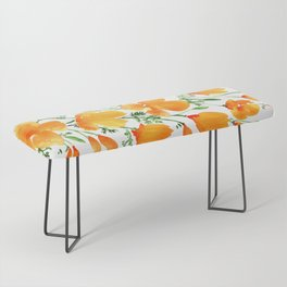 Watercolor California poppies Bench