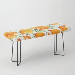 Watercolor California poppies Bench