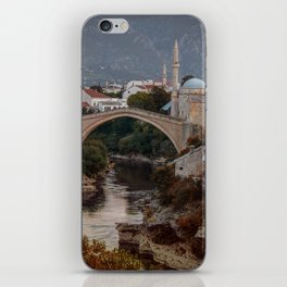 An Old bridge in Mostar iPhone Skin