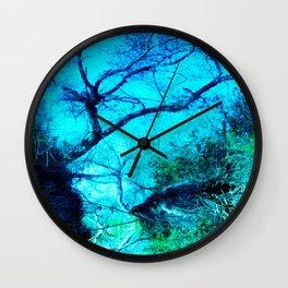 Upside Down World. © S. Montague. Wall Clock