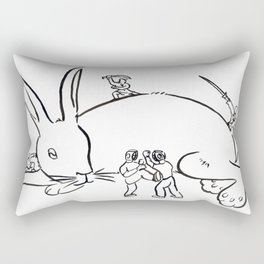 Kuo Shu Rabbit Rectangular Pillow