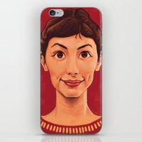 amelie iPhone & iPod Skins featuring Amelie by DC Bowers
