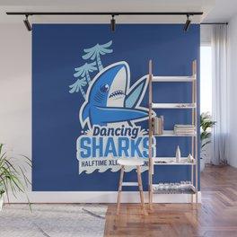 Dancing Sharks Wall Mural