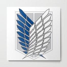 Shingeki no Kyojin - Brigade d'Exploration Metal Print