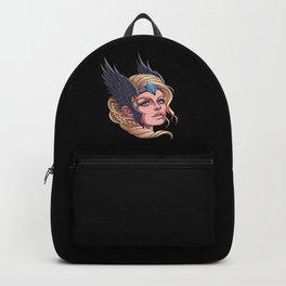 Beautiful Valkyrie - Nordic Viking Sister Backpack
