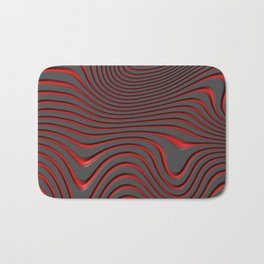 Organic Abstract 02 RED Bath Mat