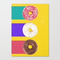 donuts Canvas Prints featuring Donuts by Danny Ivan