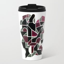 """Crazy city"" Modern geometrical art Travel Mug"