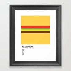 Pantone Food - Hamburger Framed Art Print