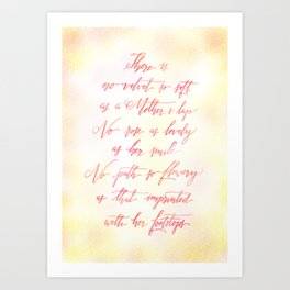 Love You Mom Art Print