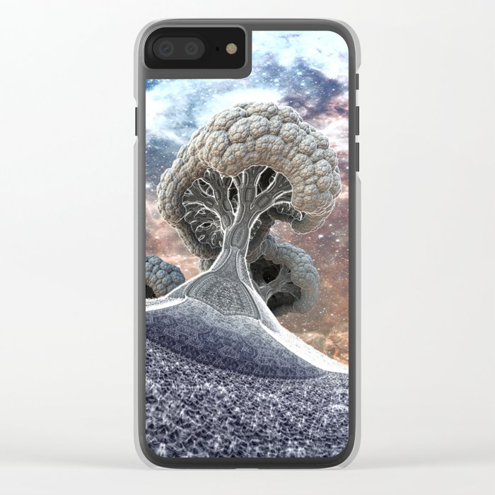 Broccoli Planet in Winter Clear iPhone Case