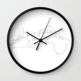 Pillowtalk Wall Clock