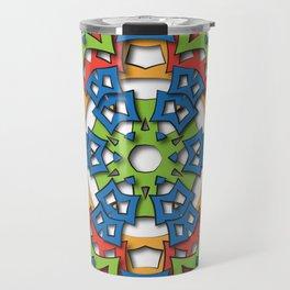 aztec mandala big sun Travel Mug