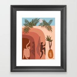 Shades of summer Framed Art Print