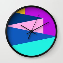 Color fields IV Wall Clock