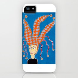 14th Century English Jesters Hat iPhone Case