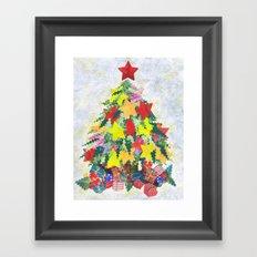 Santa's Work is Done Framed Art Print