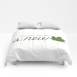 Turn Over A New Leaf Comforters