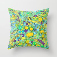 rio de janeiro Throw Pillows featuring Rio de Janeiro by Guilherme Marconi