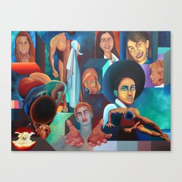FACEBOOK FRIENDS Canvas Print