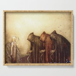 """The Golden Key"" John Bauer Watercolor Serving Tray"