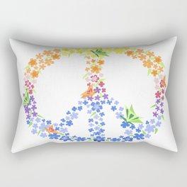 Peace Sign Rectangular Pillow