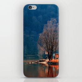 Gone fishing | waterscape photography iPhone Skin