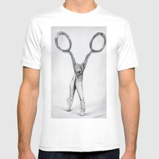 Scissors LARGE White Mens Fitted Tee