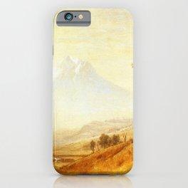 Mount Hood 1863 By Albert Bierstadt | Reproduction Painting iPhone Case