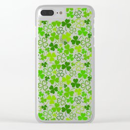 Happy St. Patrick's Day Pattern | Ireland Luck Clear iPhone Case
