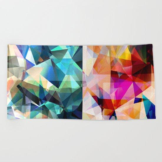 Colorful Geometric Abstract Beach Towel