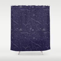 witchcraft Shower Curtains featuring Brujeria (Witchcraft) by Alexandra Aguilar