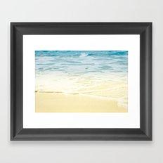 Kapalua Beach dream colours sparkling golden sand seafoam Maui Hawaii Framed Art Print