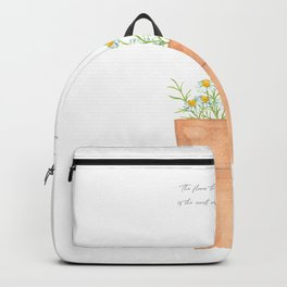 Watercolor Chamomile flowers Backpack