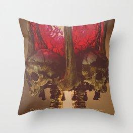 Catacomb Culture - Human Skull Horror Bone Lamp Throw Pillow