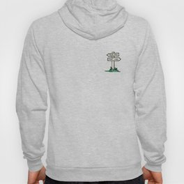 signpost at a crossroads Hoody