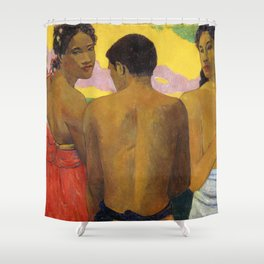 Three Tahitians by Paul Gauguin Shower Curtain