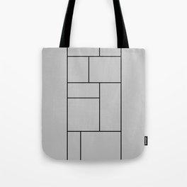 Squares Print Tote Bag
