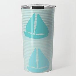 Mint Blue Sailing Travel Mug